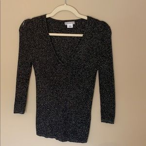 Urban Outfitters Sparkly v neck jumper